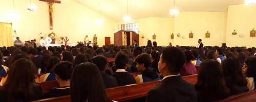 Comunidad escolar Eufrasiana recuerda la Última Cena.