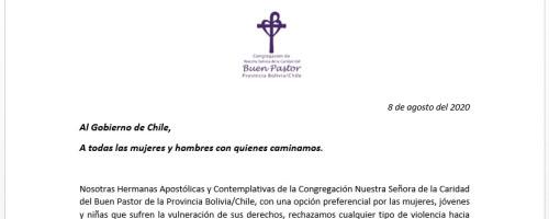 Al Gobierno de Chile, A todas las mujeres y hombres con quienes caminamos