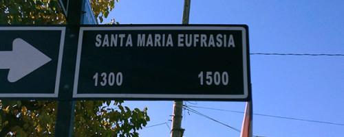Santa María Eufrasia, su nombre presente en San Felipe.