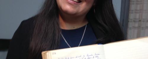 Ingreso al noviciado de Alejandra González.