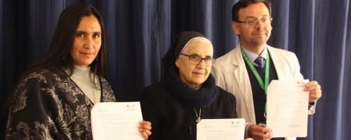 Hospital Psiquiátrico de putaendo firma importante convenio con la Fundación Buen Pastor.